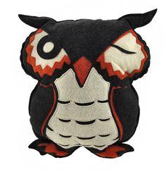 Bethany Lowe Felt Owl Halloween Throw Pillow