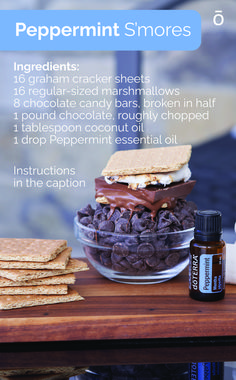 What's better than summertime s'mores? These new Peppermint s'mores! Try this recipe for a fresh take on a classic! Peppermint Oil Doterra, Doterra Essential Oils, Graham Crackers, Chocolate Covered, Diy Food, Chocolate Recipes, Coconut, Cooking Recipes, Snacks
