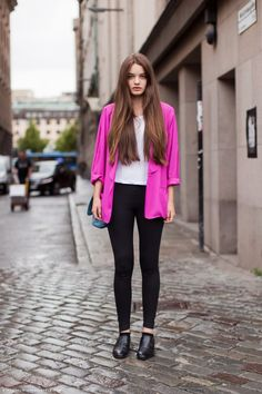 Pink Blazer Color Pop Street Style - pictures, photos, images