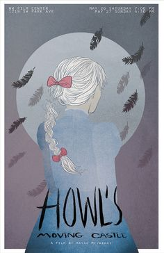 Howl's Moving Castle poster by NW Film Center, Portland.
