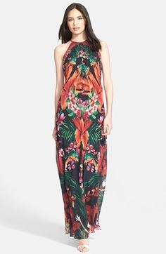 Ted Baker London 'Mircana Toucan' Print Maxi Dress available at #Nordstrom