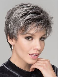 Spring Hi Wig by Ellen Wille: a natural lace front hairline allowing you the option to style off the face. The mono crown creates a natural hair growth pattern and allows you to keep the volume needed all day long. Short Pixie Haircuts, Pixie Hairstyles, Short Hairstyles For Women, Female Hairstyles, Short Hair For Women, Model Hairstyles, Long Haircuts, Hairstyles Pictures, Layered Hairstyles