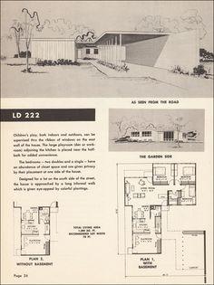 mid century modern floor plan.  Repinned by Secret Design Studio, Melbourne, www.secretdesignstudio.com