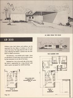 mid century modern floor plan.