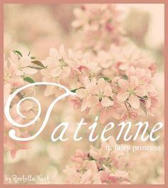 Baby Girl Name: Tatienne. Meaning: Fairy Princess. Origin: Romanian; Russian; French. http://www.pinterest.com/vintagedaydream/baby-names/
