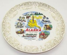Vintage Alaska Collector Plate by Unknown (No Mfg. Marks), http://www.amazon.com/dp/B00DMASD6I/ref=cm_sw_r_pi_dp_8PBYrb144E464