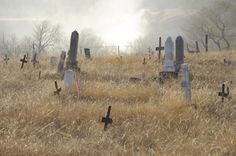 A hazy day in November at Red Cloud Cemetery on the Pine Ridge Reservation. @Patricia Nickens Derryberry Rapid City