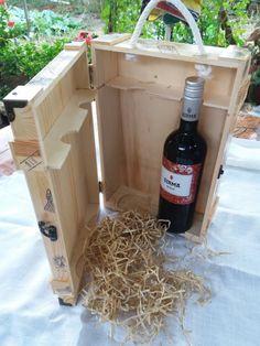 Wooden Wine Box Winery Style Wood 2 Bottle Wine Box by GORIANI