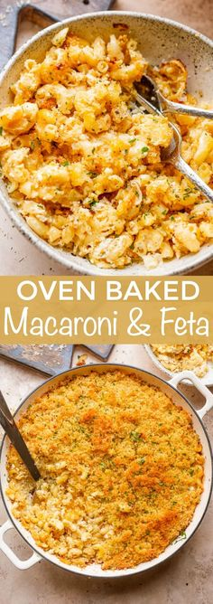 This Oven Baked Macaroni and Feta Cheese recipe is everyone's favorite mac 'n cheese made BETTER! Everything is betta with Feta! Feta Cheese Recipes, Macaroni Cheese Recipes, Baked Macaroni, Pasta Recipes, Cooking Recipes, Healthy Recipes, Cheese Fruit, Vegetarian Cooking, Healthy Food