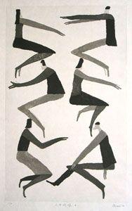 AOKI,Tetsuo wood block print