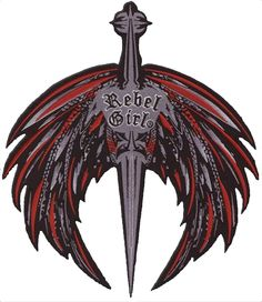 $24.95 Wings & Sword Large embroidered patch by Rebel Girl