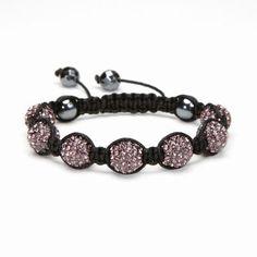 Amethyst Crystal Shamballa Bracelet - XL #Kalifano