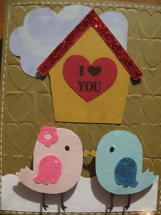 Valentine card made with the Cricut create a critter