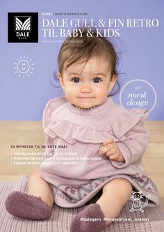 Dale gull & fin retro til baby & kids – Dale Garn Baby Barn, Crotchet Patterns, Gull, Baby Knitting, Knit Crochet, Baby Kids, Projects To Try, Arts And Crafts, Children
