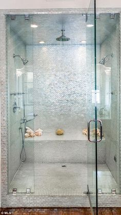 18 Best ideas for bathroom shower remodel steam room Master Bathroom Shower, Bathroom Renos, Bathroom Interior, Modern Bathroom, Small Bathroom, Bathroom Ideas, Shower Rooms, Steam Showers Bathroom, Shower Ideas