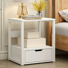 Small Nightstand Storage Locker Bedroom Night Table Sofa Coffee Table Modern End Table Bedroom Shelf Creative Free Combination Small Bookcase Home White (White) End Tables With Drawers, End Tables With Storage, Coffee Table With Storage, Table Storage, Living Room White, Living Room Bedroom, Living Room Furniture, Accent Furniture, Bedroom Sofa