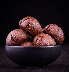 Two Minute Baked Brownie Balls