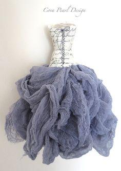 Hand made Fairytale Paper Dress , Mixed media fine art decoration,  Lilac Cinderella Dress