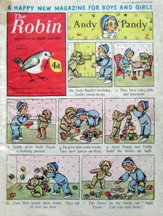 The Robin Comic First Issue. The Robin Comic was my very first comic. It first appeared on March I got a little enamelled robin brooch with it, not sure if it was with the first issue.