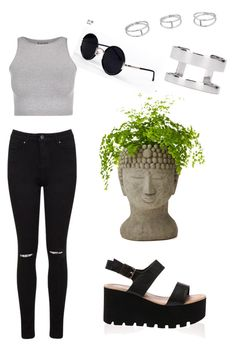 """""""#3"""" by tugowore ❤ liked on Polyvore featuring Miss Selfridge, Una-Home, Joomi Lim and Free People"""