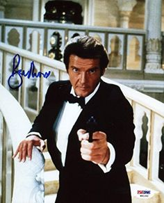 Roger Moore James Bond 007 Signed Authentic 8X10 Photo Autographed PSA/DNA 3 @ niftywarehouse.com #NiftyWarehouse #Nerd #Geek #Entertainment #TV #Products