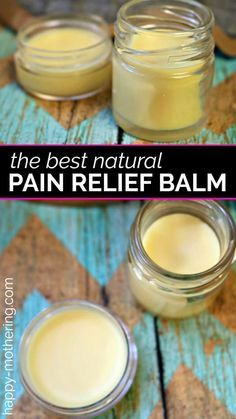 Are you looking for a natural pain relief product that works? Learn how to make a natural DIY pain relief balm that smells amazing and works great! Health DIY Natural Pain Relief Balm with Essential Oils - Happy Mothering Natural Health Remedies, Herbal Remedies, Cold Remedies, Natural Cures, Doterra, Cough Remedies For Adults, Alternative Heilmethoden, Alternative Medicine, Salve Recipes