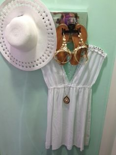ACCESSORIZE HAT R299 BEACH DRESS R499 NECKLACE R199 SHOES R699