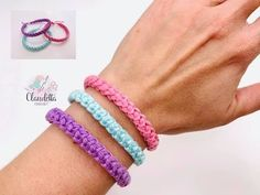 Learn to crochet easy cord bracelet. I love the sensible colors of this summer bracelet and their amazing. It is very simple and great gift for your f. Crochet Bracelet Pattern, Crochet Cord, Crochet Headband Pattern, Crochet Stitches, Crochet Patterns, Tunisian Crochet, Summer Bracelets, Cord Bracelets, Crochet Simple