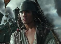 A young Jack Sparrow: Johnny Depp's wily character is seen as a young man in the new trailer for Pirates Of The Caribbean: Dead Men Tell No Tales released on Thursday  CUTE