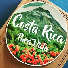Costa Rica Vinyl Sticker, Pura Vida Sticker, Scrapbooking Hippie Decal Sticker, Bumper Sticker, Laptop Decal, Travel Sticker, Circle