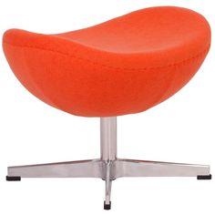 A.R.T. Furniture MLF Orange Cashmere Egg Chair Ottoman (Orange) (Wool)