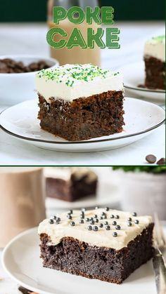 Chocolate Irish Cream Cake is made with a generous dose of Irish cream and topped with a fluffy, pudding-based frosting. This grown-up dessert is moist, rich, and oh-so-boozy! Irish Cream Cake, Irish Cake, Just Desserts, Delicious Desserts, Yummy Food, Easy Irish Desserts, Asian Desserts, Party Desserts, Food Cakes