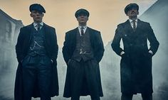Joe Cole as John Shelby, Cillian Murphy as Thomas Shelby and Paul Anderson as Arthur Shelby in Peaky Blinders.