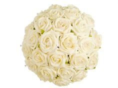 Ivory Elegance Bridal Bouquet. This popular wedding posy is designed with sparkling diamante and gorgeous ivory roses. £46 #ivorybouquet #weddingbouquet