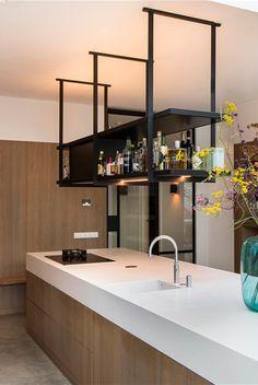 Waalwijk Loft Kitchen, Kitchen Room Design, Kitchen Dinning, Home Decor Kitchen, Interior Design Kitchen, Bathroom Interior, Home Kitchens, Kitchen Island, Industrial Kitchen Design