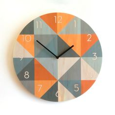 These wall clocks are made from sustainably produced Radiata Pine plywood with the design digitally printed directly on the plywood in durable,