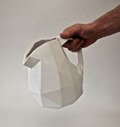 paper cast ceramics | folded porcelain pitcher#design
