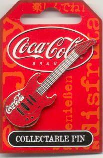 Coca-Cola Guitar Pin, Sydney 2000