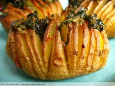 Baked Potato with Pesto