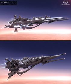 Top is the Farther Star, Julian's Flagship Bottom is the Good Ship Casperelli, Julian's Medical Frigate