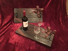 Reclaimed Wood Red Mahogany Rustic Serving/Placement Tray by AmbroseCraftsStore on Etsy https://www.etsy.com/listing/484794557/reclaimed-wood-red-mahogany-rustic