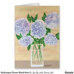 Great gift idea. Hydrangea Flower Blank Note Cards