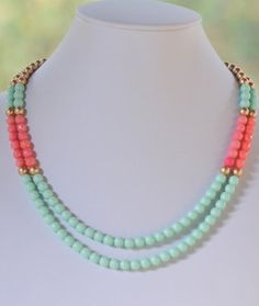 Mint & Coral....two of my favorite colors.  First is green.