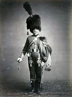 Last Napoleonic Veterans - Quartermaster Fabry, 1st Hussars Napoleonic War Veterans, II, c. 1858.