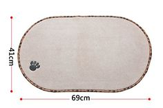 Dog Feeding Mats - Sinland Microfiber Pet Bowl Mat Dish Drying Mat with antiskid backing 1614 Inch x 2716 Inch Cream * Click on the image for additional details. (This is an Amazon affiliate link)