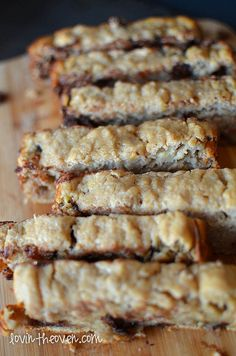 Chocolate Chip Banana Bread made with Greek yogurt