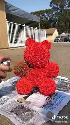 Diy Crafts For Home Decor, Diy Crafts Hacks, Diy Crafts For Gifts, Paper Crafts, Valentine Decorations, Valentine Crafts, Diy Flowers, Paper Flowers, Ideias Diy