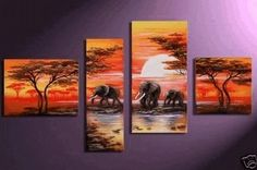 Canvas Wall Art, African Painting, Extra Large Painting, Abstract Pain – Silvia Home Craft Living Room Canvas Painting, Hand Painting Art, Large Painting, Oil Painting On Canvas, Painting Abstract, Woman Painting, Giraffe Painting, Elephant Paintings, Bedroom Canvas