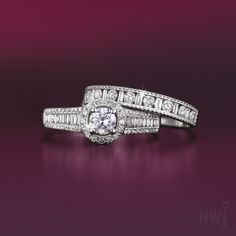 Diamond Collection: 18ct White Gold With Diamonds Ring Set By NWJ *Valid for 2013
