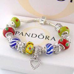I love pandora bracelets! Bright colors!